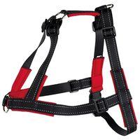 TRIXIE Oprsnica Lead'n'Walk Soft velikost L-XL 65-105 cm črna