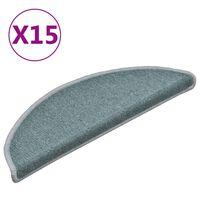 vidaXL Preproge za stopnice 15 kosov modre 56x17x3 cm