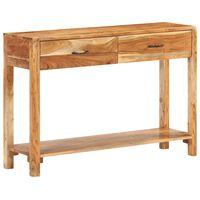 vidaXL Komoda 110x30x75 cm trden akacijev les