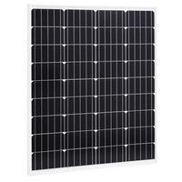 vidaXL Solarna plošča 80 W monokristalni aluminij in varnostno steklo