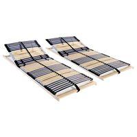 vidaXL Letveno posteljno dno 2 kosa z 42 letvicami 7 con 70x200 cm