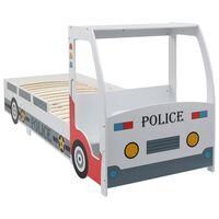 vidaXL Otroška postelja z mizo policijski avtomobil 90x200 cm
