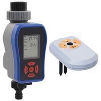 vidaXL Digitalni časovnik za zalivanje enojni s senzorjem vlage
