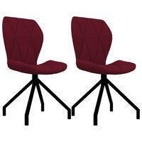 vidaXL Jedilni stoli 2 kosa vinsko rdeče umetno usnje