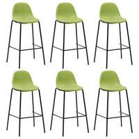 vidaXL Barski stoli 6 kosov zeleno blago