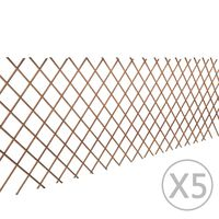 vidaXL Mrežasta ograja iz vrbe 5 kosov 180x90 cm