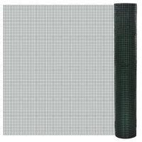 vidaXL Žična ograja pocinkana s PVC oblogo 10x1 m zelena