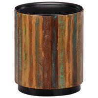 vidaXL Klubska mizica 38x45 cm iz trdnega predelanega lesa