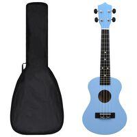 """vidaXL Otroški ukulele soprano s torbo baby moder 23"""""""
