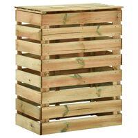 vidaXL Vrtni kompostnik iz letvic 80x50x100 cm impregnirana borovina