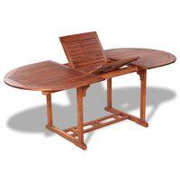 vidaXL Vrtna miza 200x100x74 cm trden akacijev les