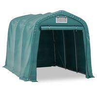 vidaXL Garažni šotor PVC 2,4x3,6 m zelen