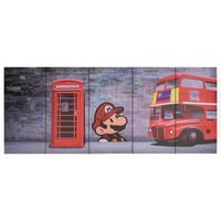 vidaXL Slika na platnu London večbarvna 200x80 cm