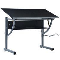 vidaXL Najstniška risalna miza črna 110x60x87 cm mediapan