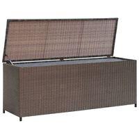 vidaXL Vrtna skrinja za shranjevanje poli ratan 120x50x60 cm rjava