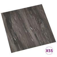 vidaXL Samolepilne talne plošče 55 kosov PVC 5,11 m² temno sive
