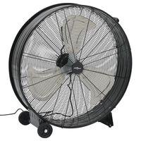 vidaXL Industrijski bobnasti ventilator 77 cm 180 W črn