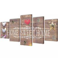 Set platen s printom Home Sweet Home 100 x 50 cm