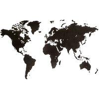 MiMi Innovations Lesen zemljevid sveta Luxury črn 180x108 cm