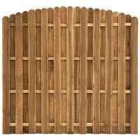 vidaXL Ograjni panel iz borovine 180x(155-170) cm