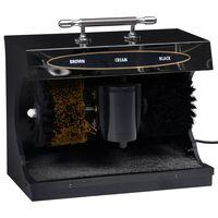 vidaXL Električna naprava za poliranje čevljev avtomatska črna
