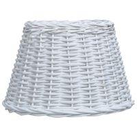 vidaXL Senčilo za svetilko pleteno 45x28 cm belo