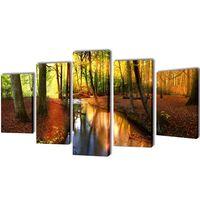 Set platen s printom gozda 100 x 50 cm