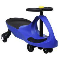 vidaXL Otroški vrtljiv avtomobil s hupo modre barve