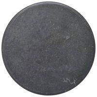 vidaXL Mizna plošča črna Ø 70x2,5 cm marmor
