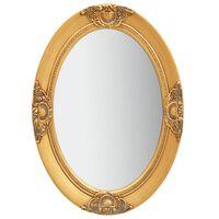 vidaXL Stensko ogledalo v baročnem stilu 50x70 cm zlato