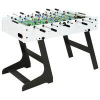 vidaXL Zložljiva miza za namizni nogomet 121x61x80 cm bela