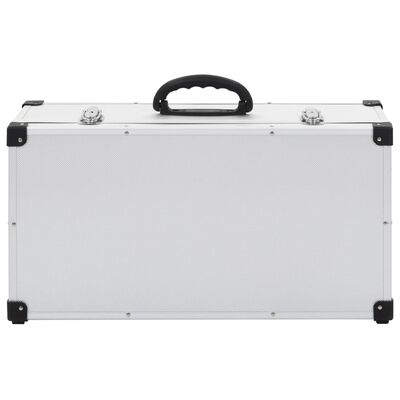vidaXL CD kovček za 80 CD-jev iz aluminija ABS srebrn