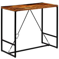 vidaXL Barska miza iz trdnega predelanega lesa 120x60x106 cm