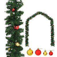 vidaXL Božična girlanda okrašena z bučkami 10 m