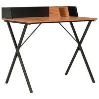 vodaXL Pisalna miza črna in rjava 80x50x84 cm