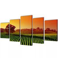 Set platen s printom polja 200 x 100 cm