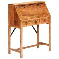 vidaXL Pisalna miza 90x40x107 cm trden akacijev les