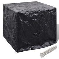vidaXL Pokrivalo za zbiralnik vode z 8 pokrovčki 116x100x120 cm