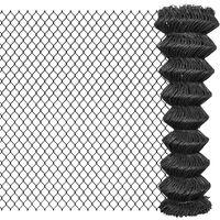 vidaXL Verižna ograja iz jekla 25x1,5 m siva