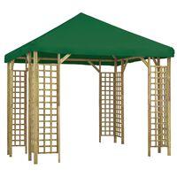 vidaXL Paviljon 3x3 m zelen