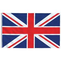 vidaXL Zastava Velike Britanije 90x150 cm
