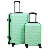 vidaXL Trdi potovalni kovčki 2 kosa mint zeleni ABS