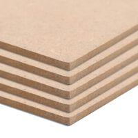 vidaXL MDF Plošče pravokotne 120x60 cm 2,5 mm 5 kosov