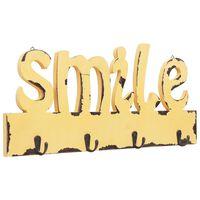 vidaXL Stenski obešalnik za plašče SMILE 50x23 cm