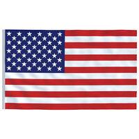 vidaXL Ameriška zastava 90x150 cm