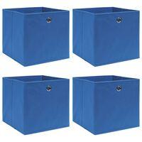 vidaXL Škatle za shranjevanje 4 kosi modre 32x32x32 cm blago