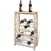 vidaXL Stojalo za vino za 25 steklenic trden les jelke