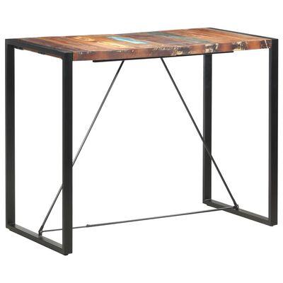 vidaXL Barska miza 140x70x110 cm iz trdnega predelanega lesa