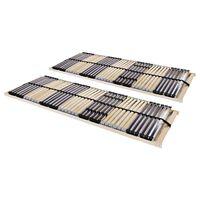 vidaXL Letveno dno za posteljo 2 kosa z 42 letvicami 7 con 90x200 cm