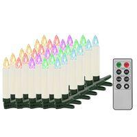 vidaXL Božične brezžične LED svečke z daljincem 30 kosov RGB